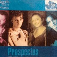 Amy on the front cover of the Leeds College Of Music prospectus!