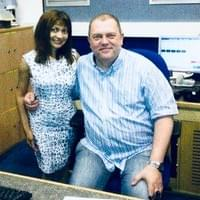 Amy with BBC Wales Host Alan Thompson after her LIVE interview!