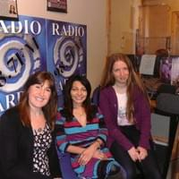 Amy, Claire & Deborah after a very early LIVE performance of Amy's Original songs on Radio Cardiff!