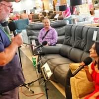 Amy being interviewed & performing LIVE on Radio on location at Leaks Store!