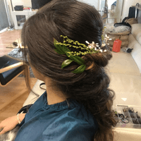 soft updo bridal hair styling