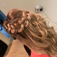 braided hair style for brides to be