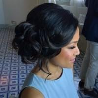 updo palo alto wedding