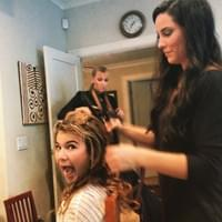 batmitzvah hair styling