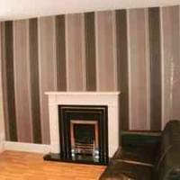 Finished lounge redecoration and feature wallpaper hung