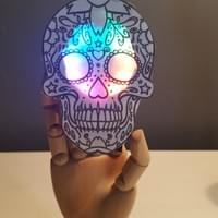 Halloween/Day of the Dead Sound Activated Badge
