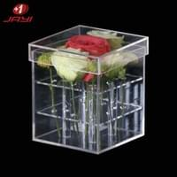 Transparent acrylic flower box