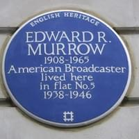 Murrow's Blue Plaque in London