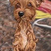 Digital Dog Caricature