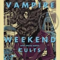 VAMPIRE WEEKEND Buffalo Screen Printed Poster