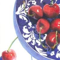 Cherries on Blue