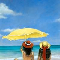 """A Day at the Beach"" 22x30"" pastel"