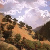 Big Cottonwood Canyon With Clouds - sold