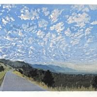 "Sky Full of Clouds - 26"" x 11"""