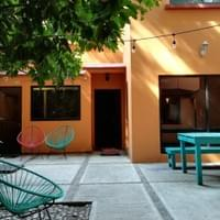 El patio del estudio