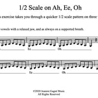 Exercise 6: Scale on Ah Ee Oh