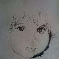 Self portrait from old baby picture