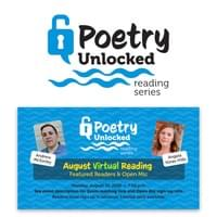 Logo and Facebook event image for Poetry Unlocked reading series