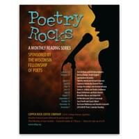 Poster to advertise the Wisconsin Fellowship of Poets Fox Valley Region poetry reading series