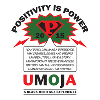 T-shirt design for Umoja — a conference for transracial families raising African American children — featuring positive messaging