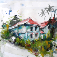 Scenery Painting in Watercolour