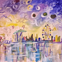 Scenery in Acrylic ( Group Participation artwork)