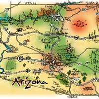 Map of Arizona by Alden Olmsted ©2018