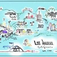 Map of Los Angeles by Alden Olmsted ©2018