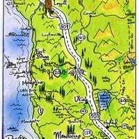 Map of Mendocino by Alden Olmsted ©2018