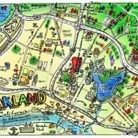 Map of Oakland by Alden Olmsted ©2018