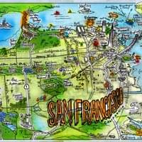 Map of San Francisco by Alden Olmsted ©2018