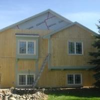 beginning installation of siding