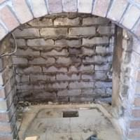 Strip down the fireplace