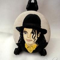 MJ - PORTRAIT ON SMALL STONE