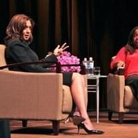 (April 2012) The Forum: Conversations at YBCA (Farai Chideya (r) in conversation with California Attorney General Kamala Harris)