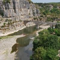 Ardèche river down Balazuc village