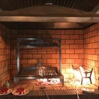 Grande Parrilla Grill in purpose built Fire Pit in Northern Ireland