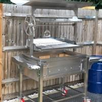 Mobile Fire Table with Parrilla Grill