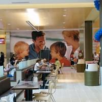 Food Court Custom Wallcovering/Wallpaper