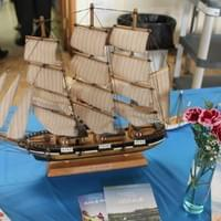 "Display for our ""Maritimes & More"" themed Spring Tea, May 31, 2015"
