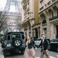 Paris Couple Engagement Street Photo Shoot