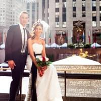 Newlyweds at Rockefeller Center