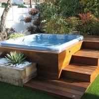 Raised Hot Tub