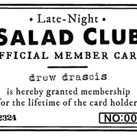 Late-Night Salad Club Card