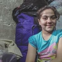 """I'm not scared of terrorists, neither of the bombings, I don't want to be scared, I just want to live ... but i'm sad I've left my home I loved, my bedroom I loved. I really like my school, I'm in a UNICEF center, I have a lot of friends. I want to become a doctor to save people from the war, I think it's the most beautiful job on earth."""