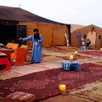 Our beautiful camp in the desert