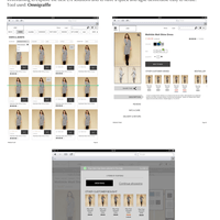 Ecommerce wireframes