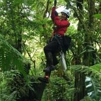 Jess in the canopy in Costa Rica