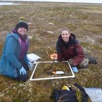 Karen and Bonnie sampling soils in the Yukon Kuskokwim Delta