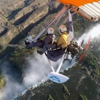 MicroLight flight over the falls